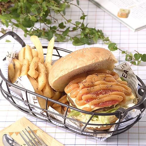 花生蔬菜肉排漢堡