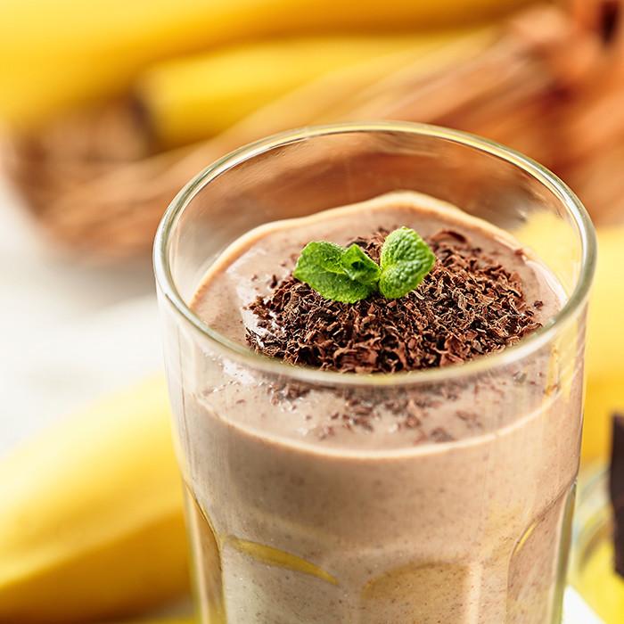 香蕉巧克力奶昔