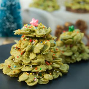 Matcha Cornflake Christmas Tree