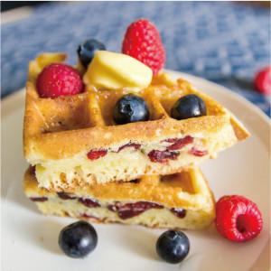 蜜香椰奶蔓越莓鬆餅