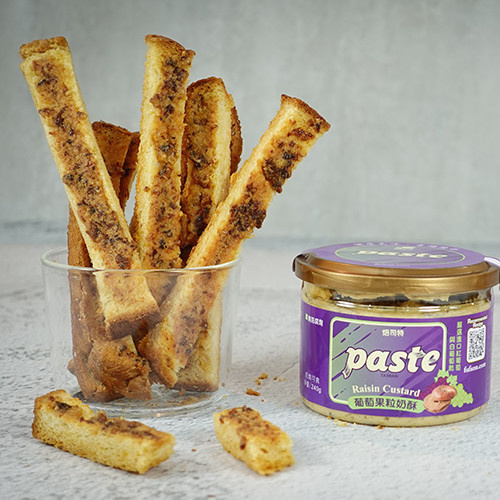 Raisin Custard Bread Crisp