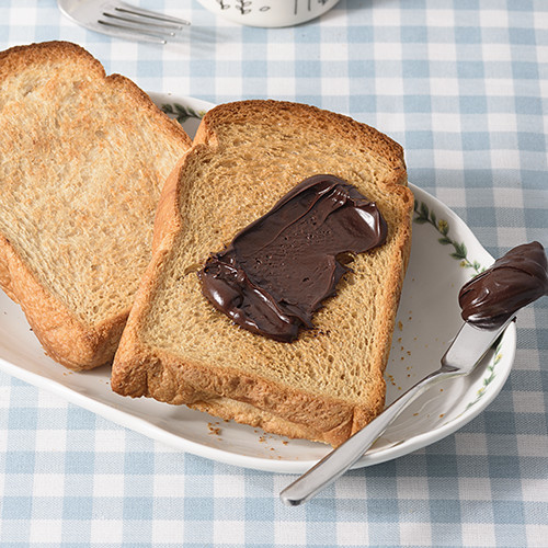Thick cut toast with chocolate spread