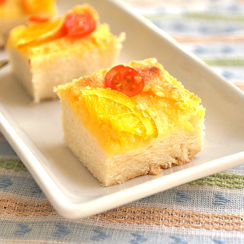 Orange coconut toast