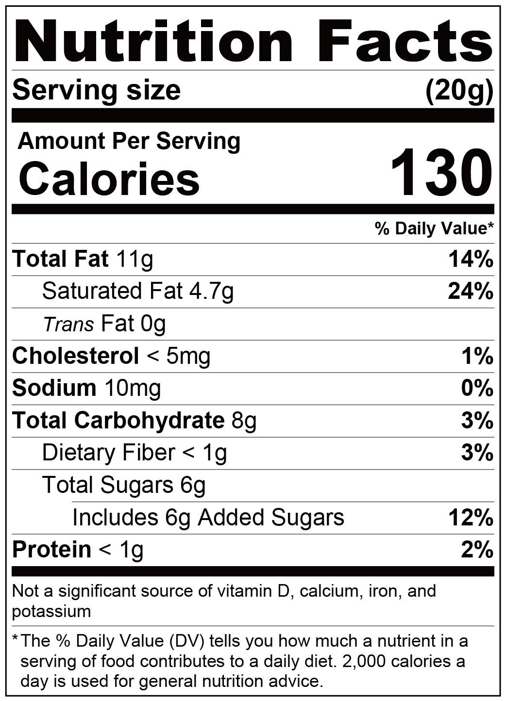 fufann coconut paste-Nutrition