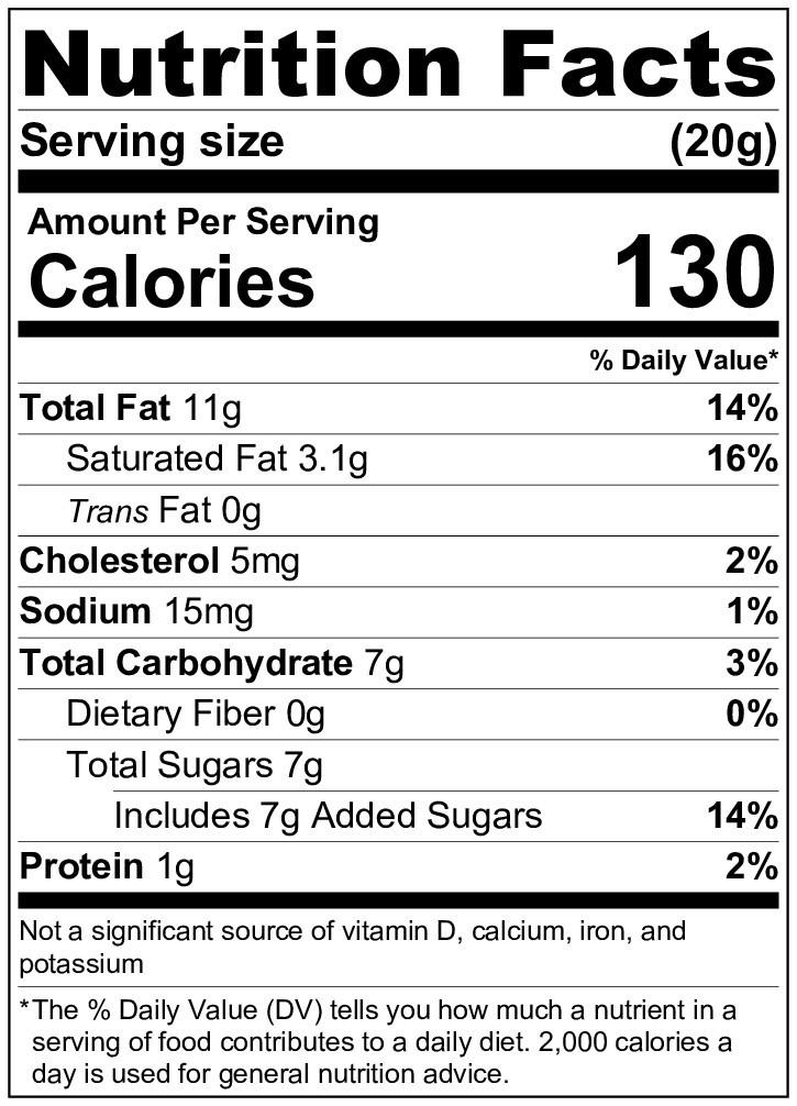 焙司特純奶酥-營養標示