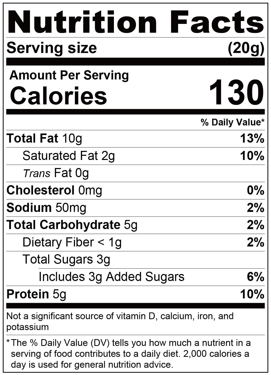 paste-crunchy peanut butter-Nutrition